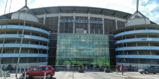 איצטדיון אתיחאד. במנצ'סטר יש גם סיטי (צילום: Mikey_flickr_cc)